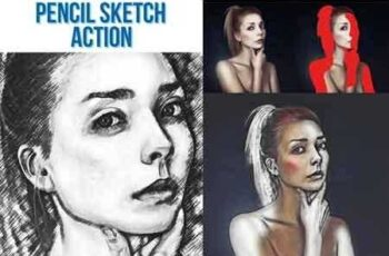 1808181 Pencil Sketch Bundle - 4 Photoshop Action 22103984 7