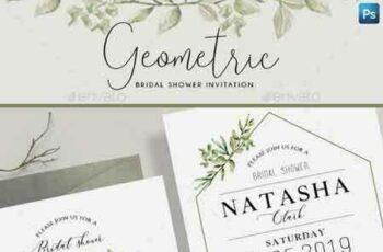 1808190 Geometric Bridal Shower Invitation 22264824 2