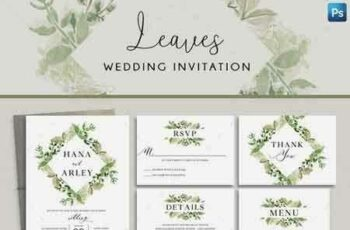 1808192 Leaves Wedding Invitation 22259944 5