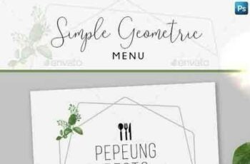 1808196 Simple Geometric Menu + Business Card 22277531 9