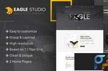 1808219 Eagle Studio - Creative PSD Template - 22132185 4