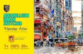 1808222 Aquarelleum Urban Sketcher Action 2700094