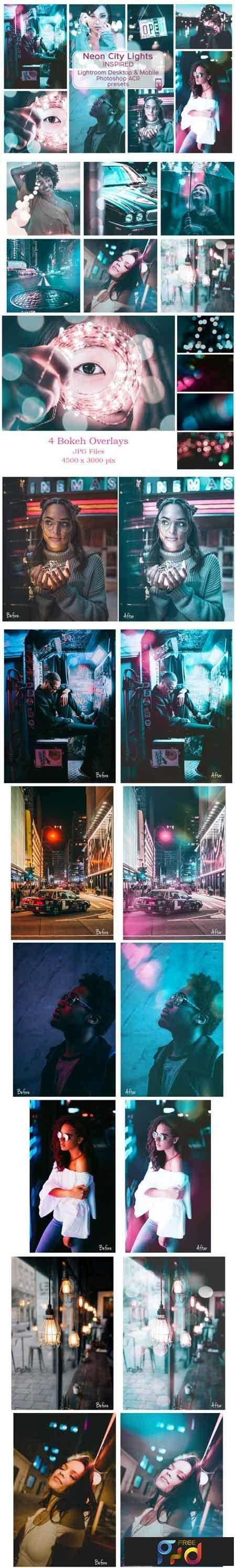 1808244 Lr & Ps Presets ACR Neon City Lights 3468626 - FreePSDvn