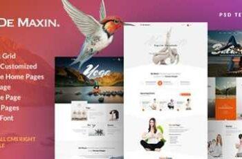 1808263 De Maxin - Yoga PSD Template - 20468605 2