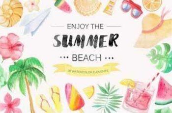 1808269 Watercolor Beach Set 13960 7