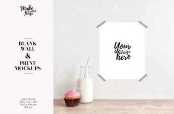 1808295 Wall print mockup set Blank wall mockup 3 sizes 3 colors 3451578 4