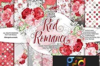 1809030 Watercolor RED ROMANCE design 1454571 4