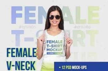 1809061 Female Vneck Tshirt And Backpack Mockups 22114447 3