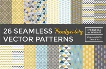 1809069 26 Vector Patterns Trendy Colors 8801 7