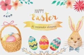 1809077 Watercolor Easter Set 13961 5