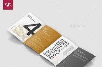 1809082 Roll-Fold Brochure Mockup - Din A4 A5 A6 22260474 6