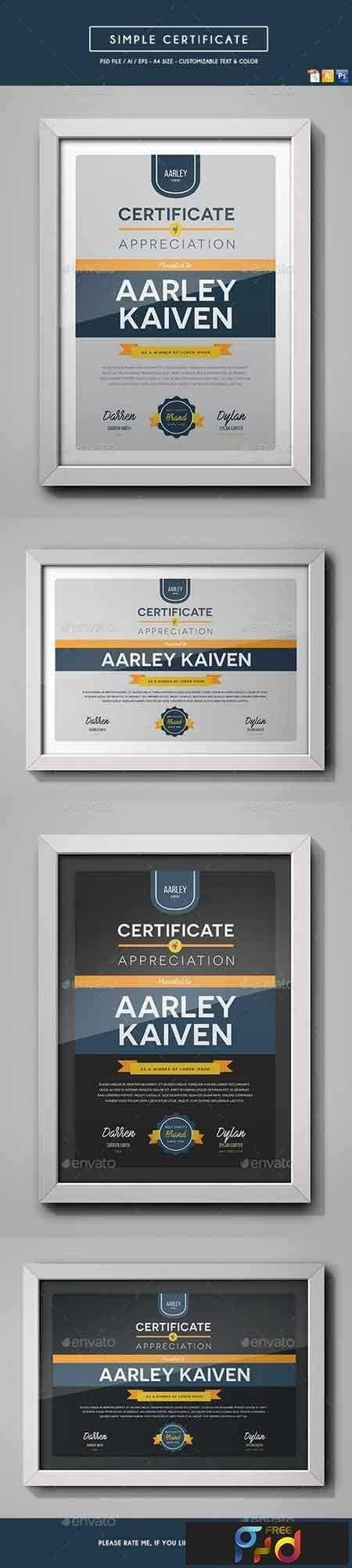 1809096 Simple Multipurpose Certificates 19026441 1