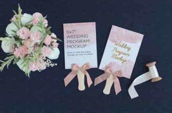 1809110 Wedding Program Fan Mockup PSD 2535846 4