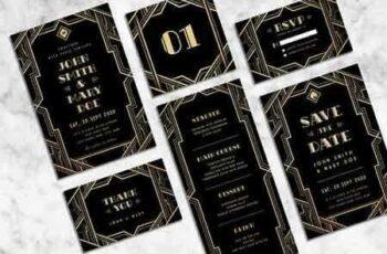 1809111 Art Deco Wedding Invitation Suite 2803242 7