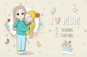 1809114 I Love Mom Vector Illustrations 19656 8