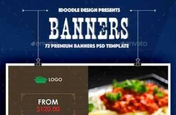 1809119 Bundle - Food & Restaurant Banners Ad - 72 PSD [04 Sets] 16659211 6