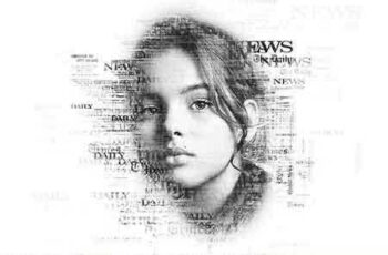 1809137 Newspaper Text Photoshop Action 565033 8