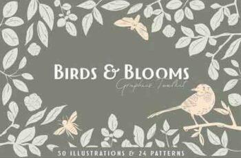 1809158 Birds & Blooms Graphics Toolkit 2789066