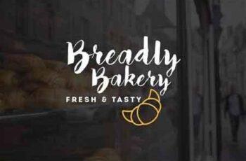1809159 10 Bakery Shop Flat Script Logo 1145116 4