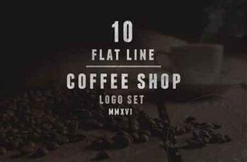 1809160 10 Coffee Shop Flat Line Logo 1136171