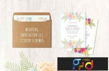 1809161 Floral Wedding Set 13 cards 618910 3