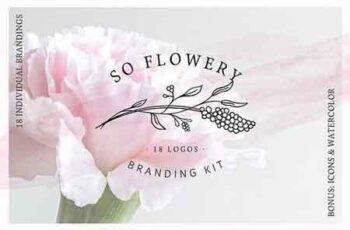 1809163 So Flowery Branding Kit+Watercolours 2311711 5