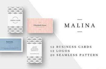 1809166 MALINA Business Cards + Logos 1450115