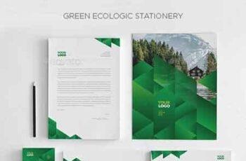 1809180 Green Ecologic Stationery 7476303 3