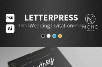 1809184 Letterpress Wedding Invitation 14145268 6