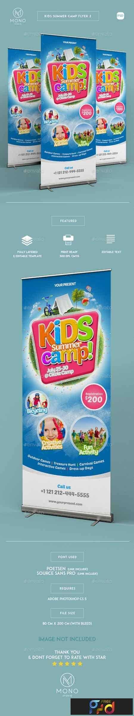 1809209 Kids Summer Camp Roll-up Banner 2 16382363 1