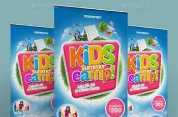1809209 Kids Summer Camp Roll-up Banner 2 16382363 2