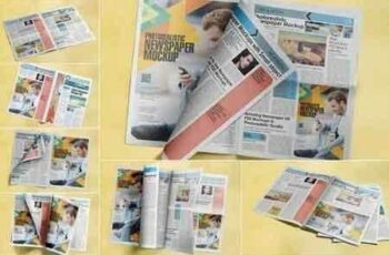 1809233 Photorealistic Newspaper Mockups TXYFFY 4