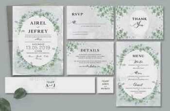 1809246 Eucalyptus Wedding Invitation 22386017 4