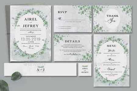 1809246 Eucalyptus Wedding Invitation 22386017