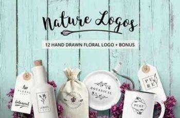 1809252 Nature & floral premade logos +BONUS 1786192 4