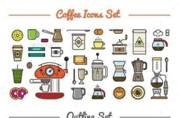 1809270 Great 32+32 Vector Coffee Icons Set 10498144 4