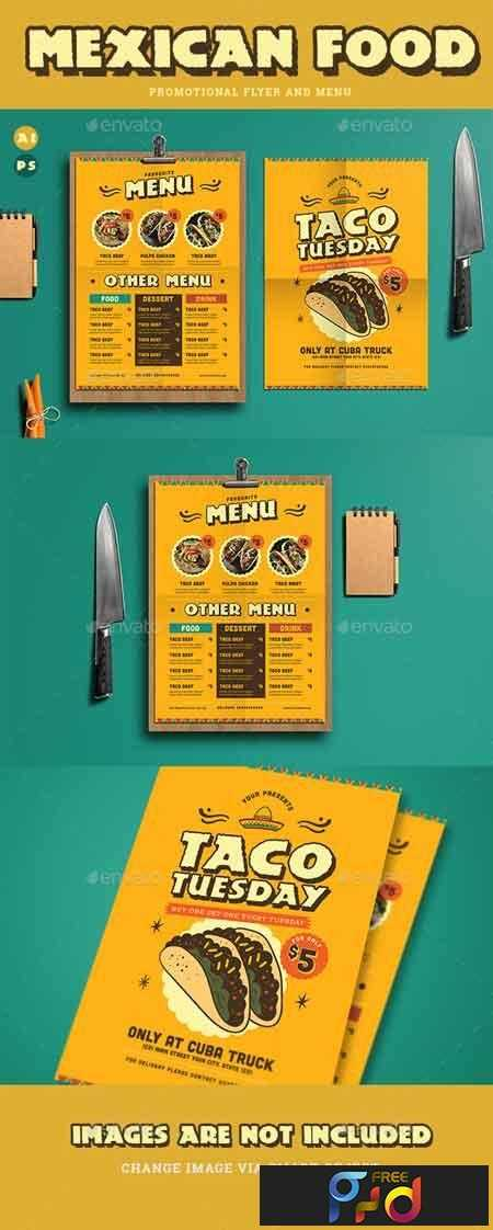 1809294 Mexican Food Menu+ Promotional Flyer 19346839 1