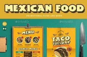 1809294 Mexican Food Menu+ Promotional Flyer 19346839 6