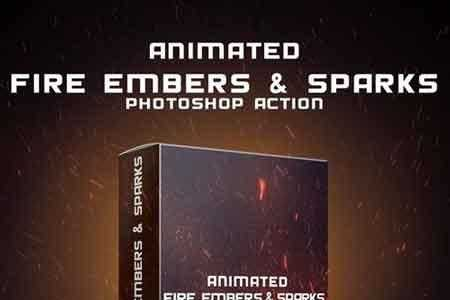 1809297 Animated Fire Embers Amp Sparks Photoshop Action