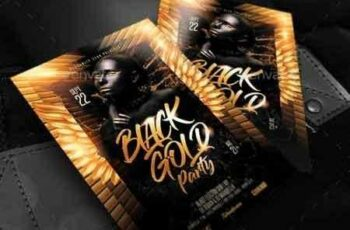 1810055 Black Gold Party Flyer 22384570 4