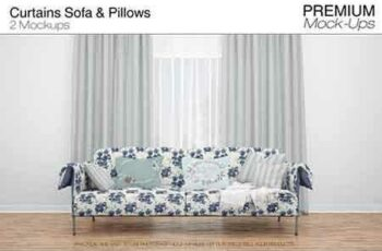 1810057 Curtains Sofa &Throw Pillows Set 3476704 6
