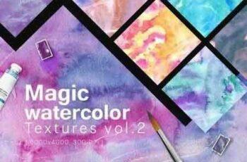 1810117 Magic Watercolor Textures Vol. 2 6GX4AR 3