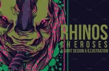 1810121 Rhinos Cheroses Illustration 871659 5