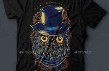 1810123 Steampunk Owl T-Shirt Design 16048272 5