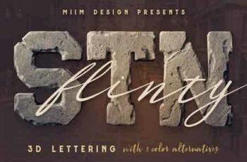 1810136 FlintyStone - 3D Lettering 1468928 3