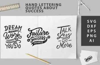 1810147 SVG Cut File - Hand Lettering Quotes About Success 123117 7