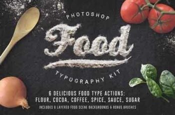 1810156 Food Typography PSD Actions 154709 2