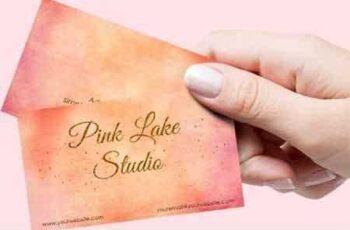 1810175 Gold Glitter Business Card Template 87177 6