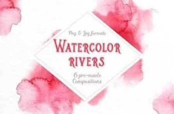 1810193 Watercolor rivers Paint strokes 2199011 3