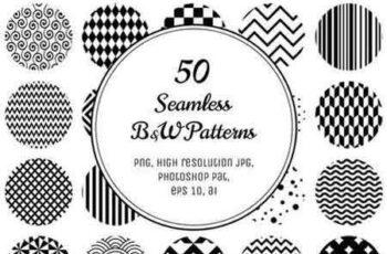 1810211 50 Geometric B&W Patterns 70325 5
